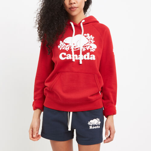 Roots-New For July Canada Collection By Roots™-Womens Cooper Canada Kanga Hoody-Sage Red-A