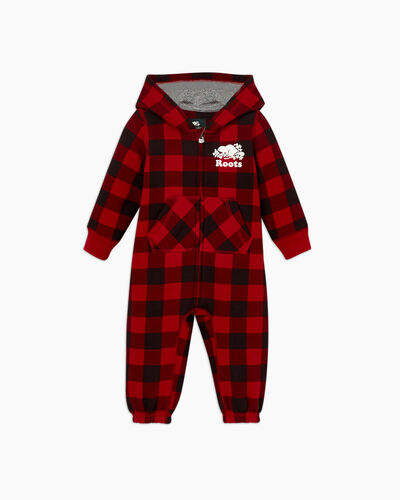 Roots-Sale Baby-Baby Park Plaid Onesie-Cabin Red-A