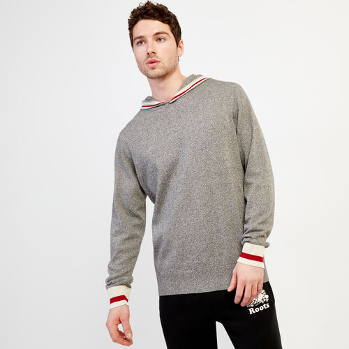 Roots-Men Sweaters & Cardigans-Cabin Hoody Sweater-Salt & Pepper-A