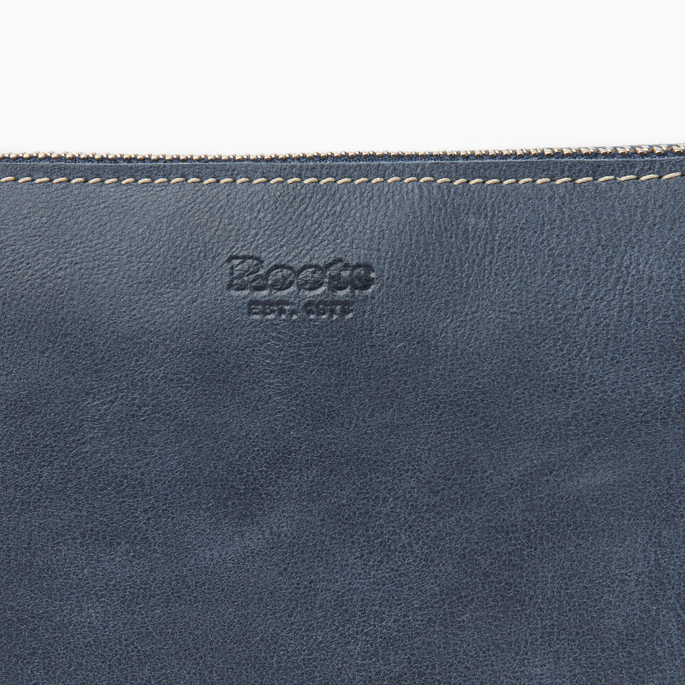 Roots-Leather New Arrivals-Journey Crossbody Tribe-Navy-E