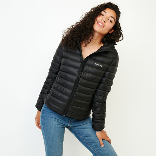 Roots-Women Outerwear-Roots Packable Down Jacket-Black-A