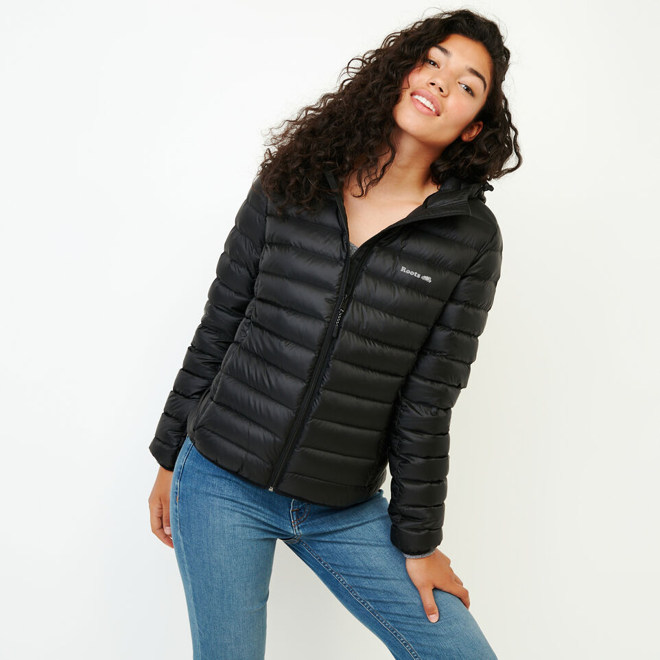 Roots-Women Bestsellers-Roots Packable Down Jacket-Black-A