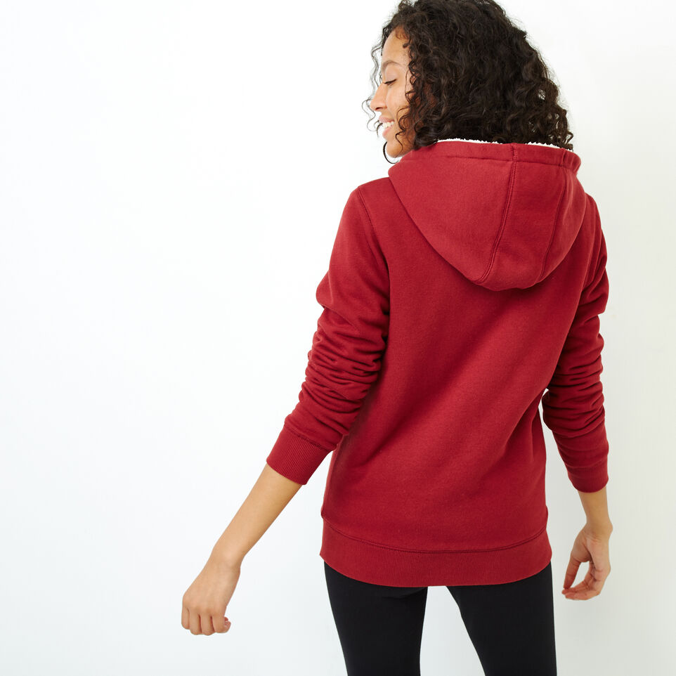 Roots-Women Our Favourite New Arrivals-Sherpa-lined Hoody-Ruby Wine-D