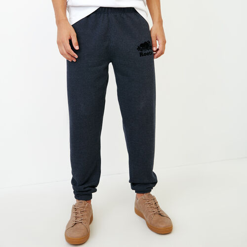 Roots-Men Bottoms-Original Slim Sweatpant-Navy Blazer Pepper-A
