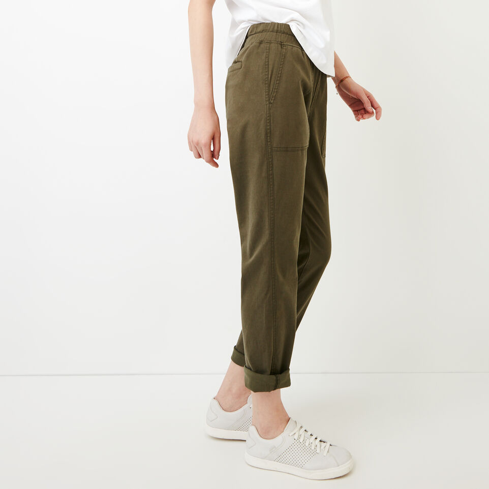 Roots-Women Categories-Essential Pant-Fatigue-C