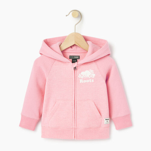Roots-Clearance Kids-Baby Original Full Zip Hoody-Pastl Lavender Pper-A