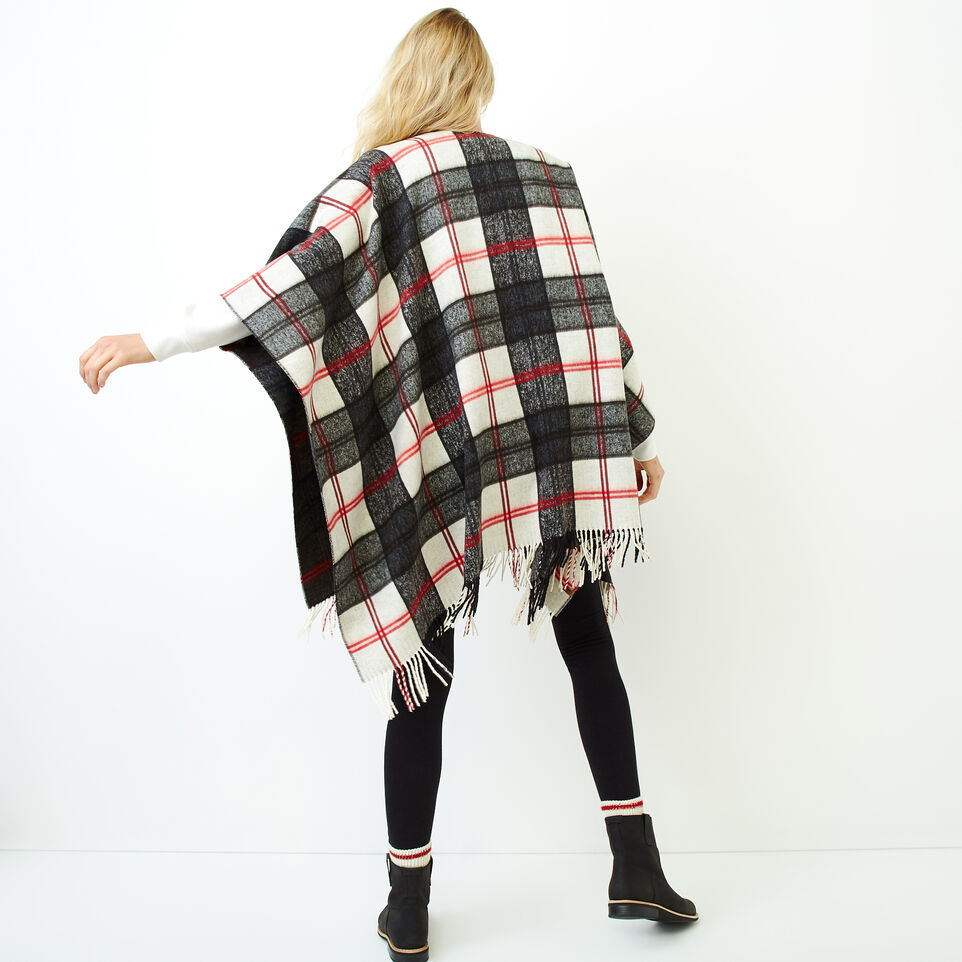 Roots-Women Our Favourite New Arrivals-Smoke Lake Plaid Wrap-Birch White-D
