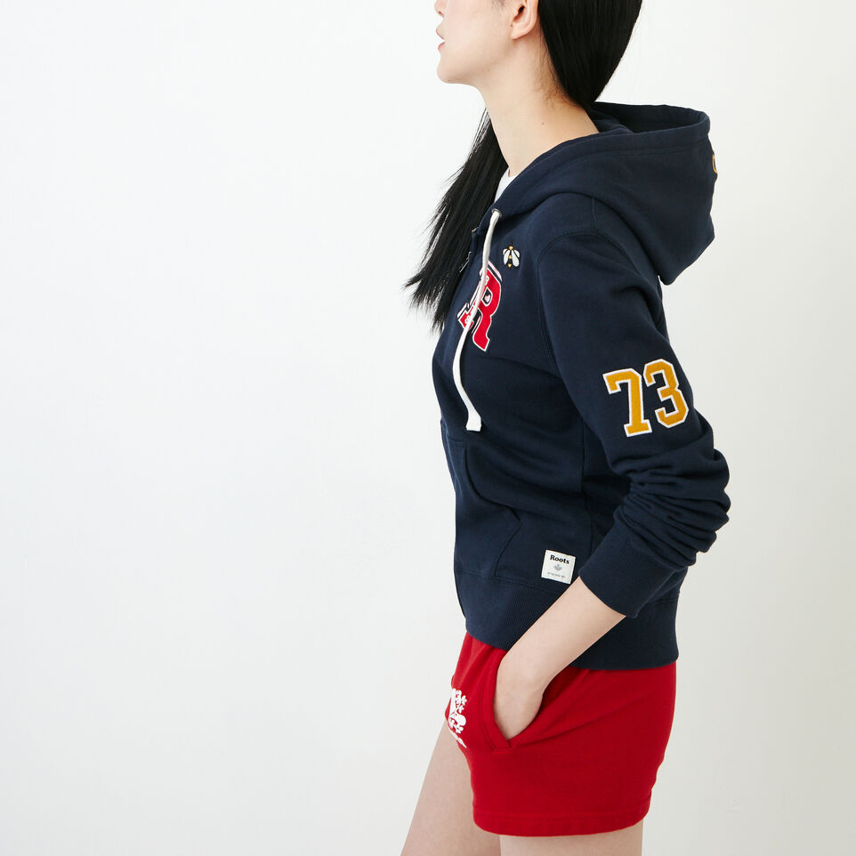 Roots-Women Our Favourite New Arrivals-Patches Full Zip Hoody-Navy Blazer-C