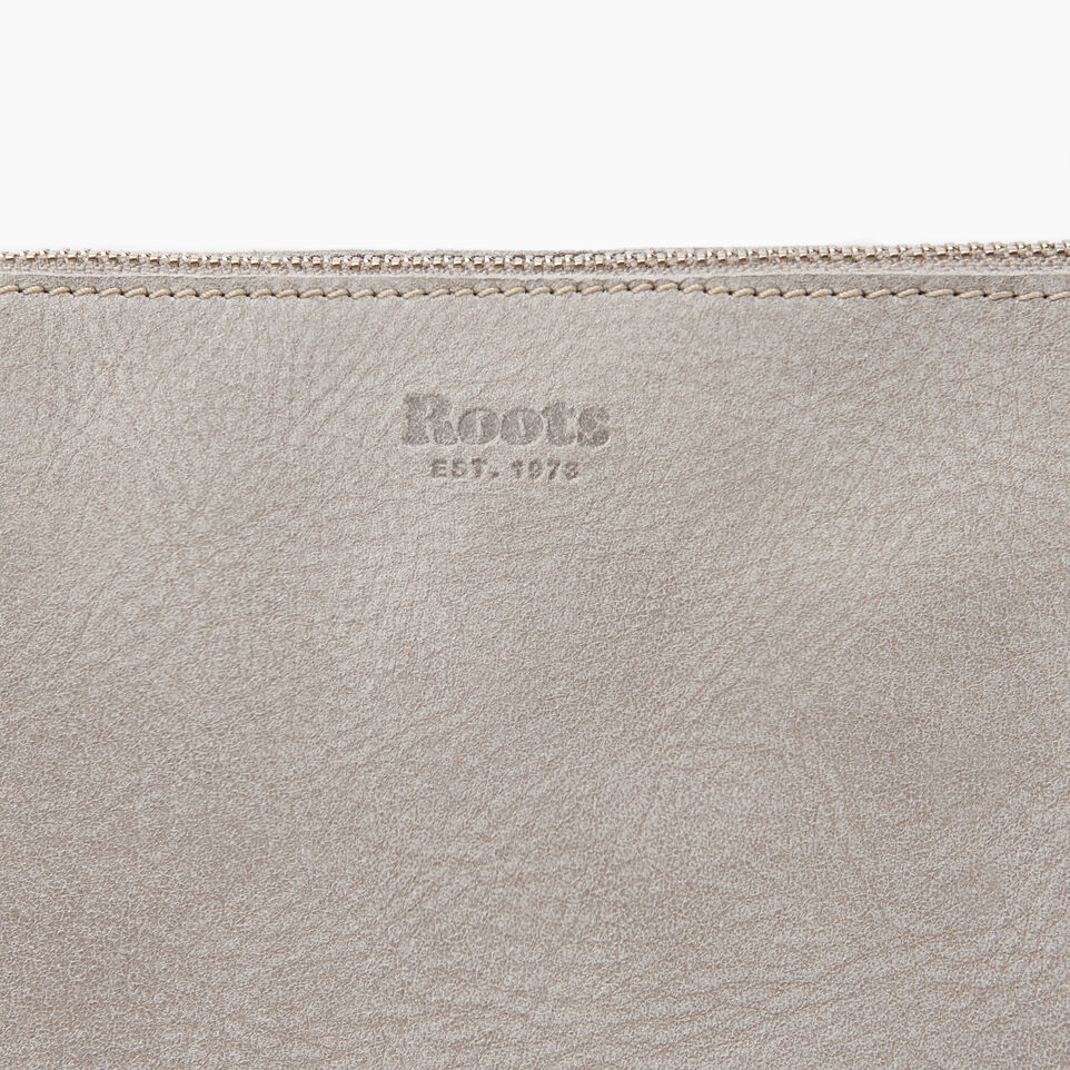 Roots-Women Leather-Journey Crossbody Tribe-Sterling Grey-E