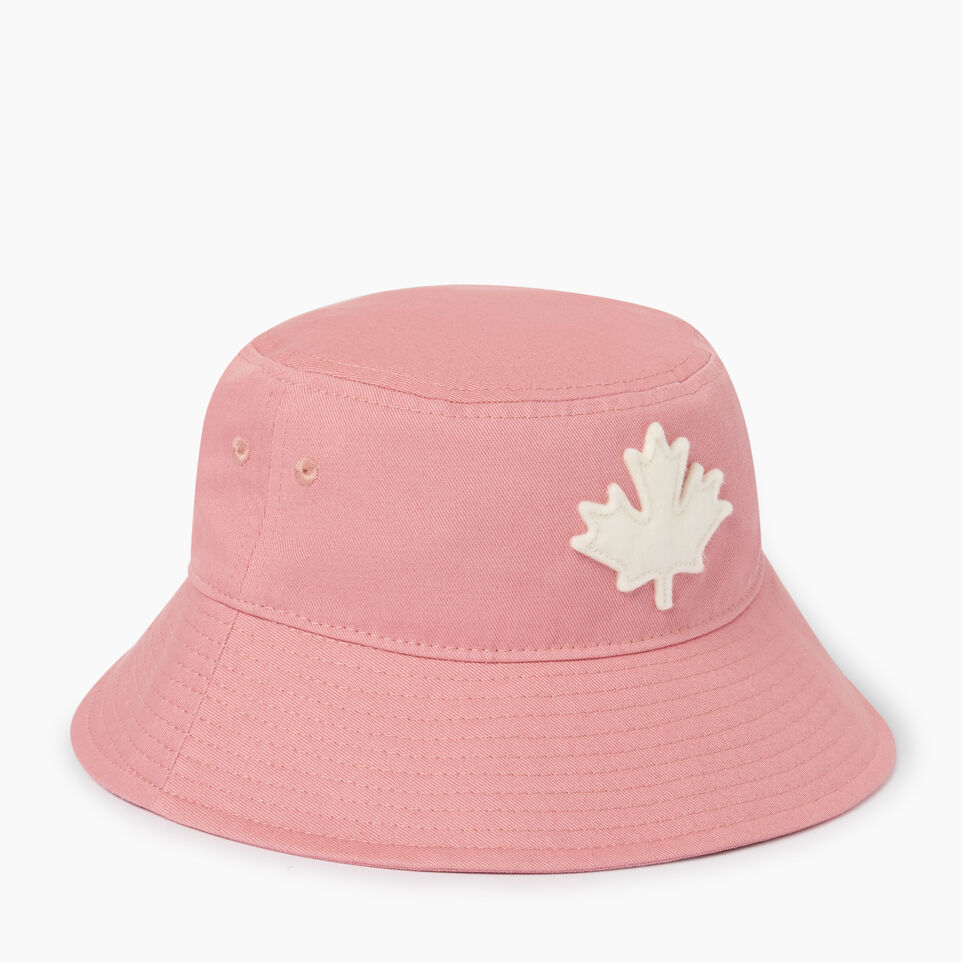 Roots-Kids Our Favourite New Arrivals-Toddler Canada Leaf Bucket Hat-Pink-A