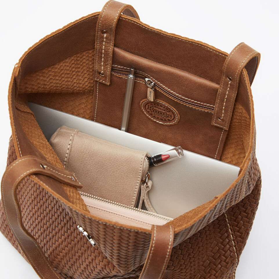 Roots-undefined-Large Downtown Tote Woven Tribe-undefined-D