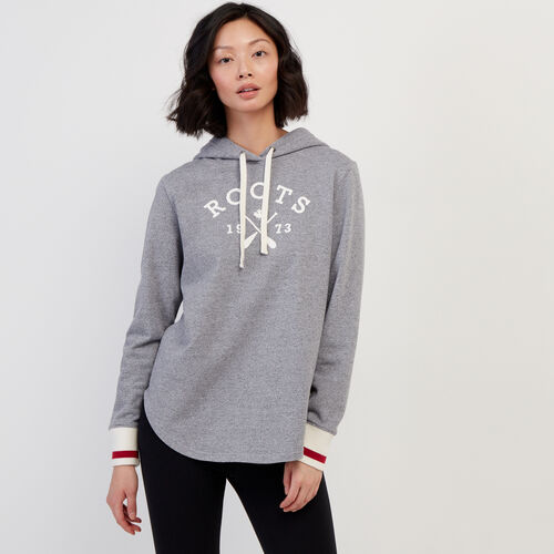 Roots-Women Bestsellers-Cabin Lightweight Hoody-Light Salt & Pepper-A
