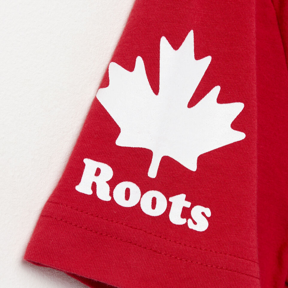 Roots-Men Canada Collection By Roots™-Mens Cooper Canada T-shirt-Sage Red-E