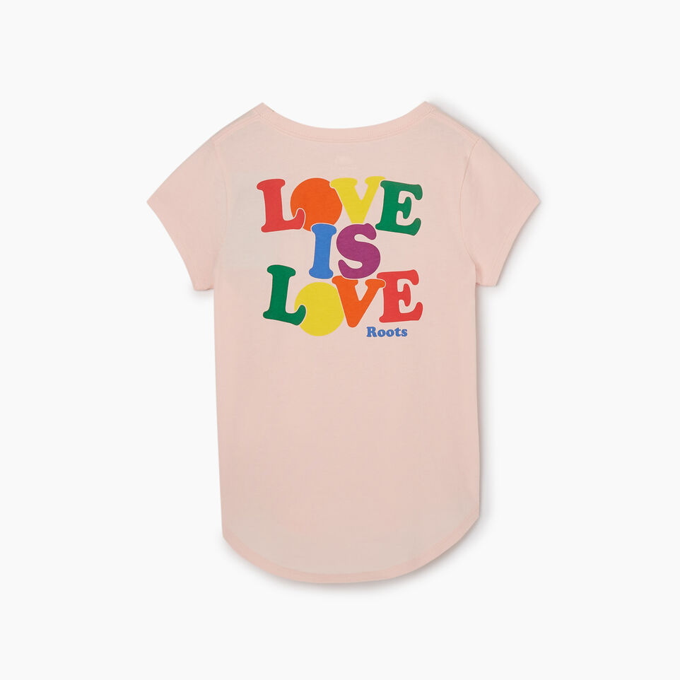 Roots-Kids New Arrivals-Girls Roots Pride T-shirt-English Rose-B