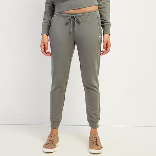 Roots-Women Bottoms-Eramosa Sweatpant-Balsam Green-A