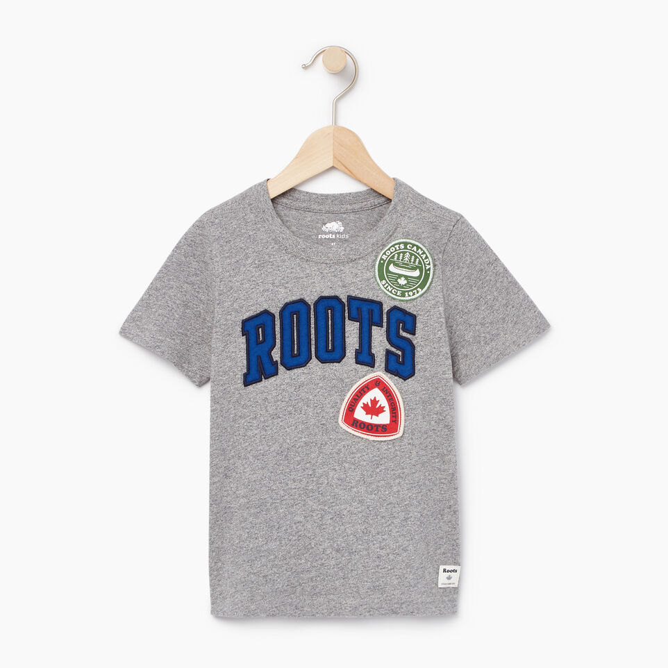 Roots-Kids Toddler Boys-Toddler Roots Patches T-shirt-Salt & Pepper-A