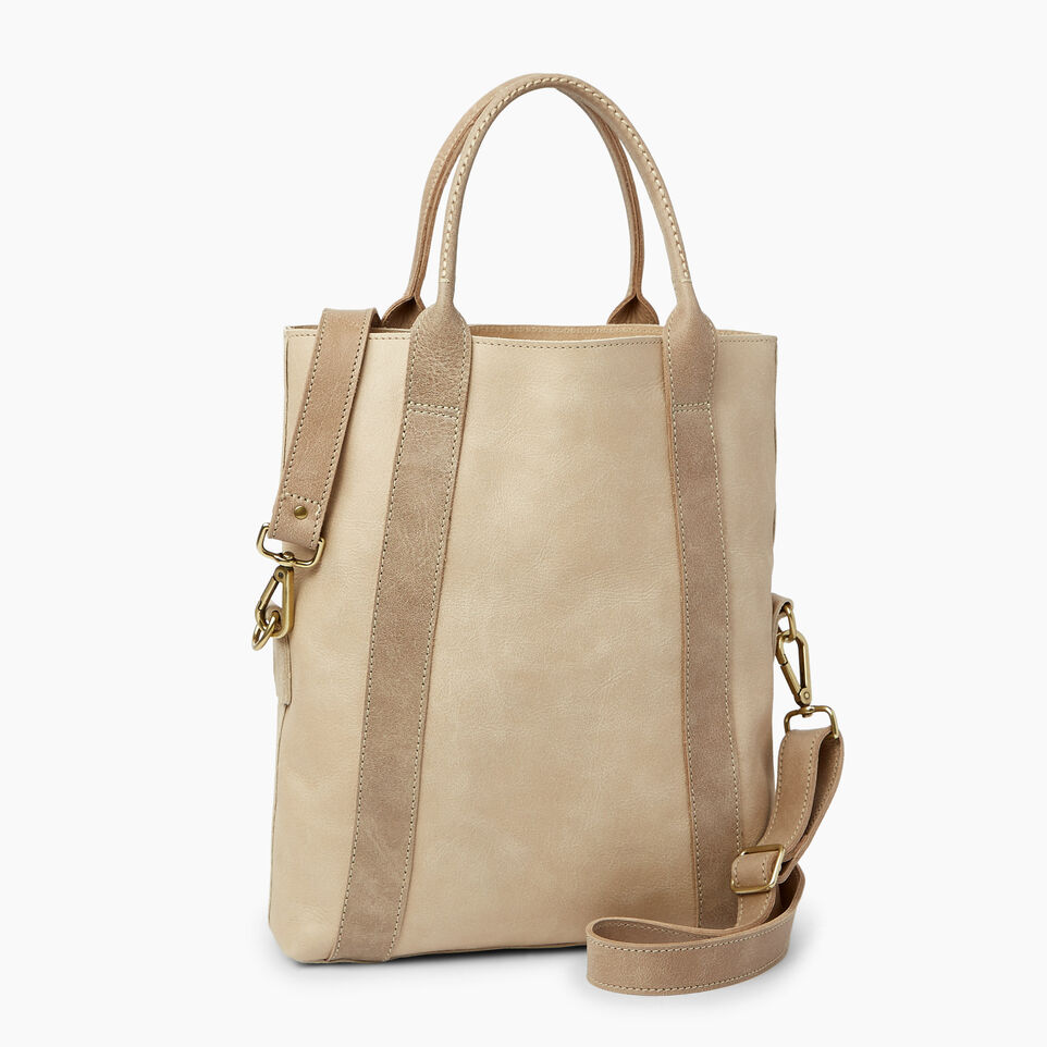 Roots-Leather  Handcrafted By Us Handbags-Annex Tote-Sand/latté-C
