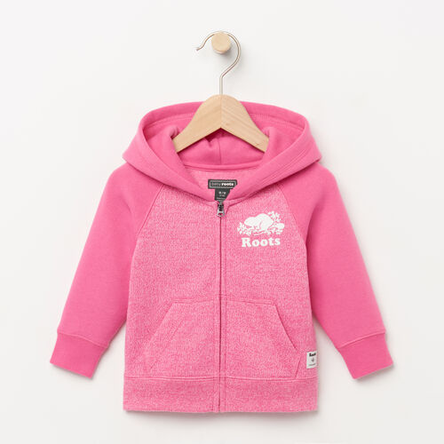Roots-Clearance Baby-Baby Original Full Zip Hoody-Azalea Pink Pepper-A