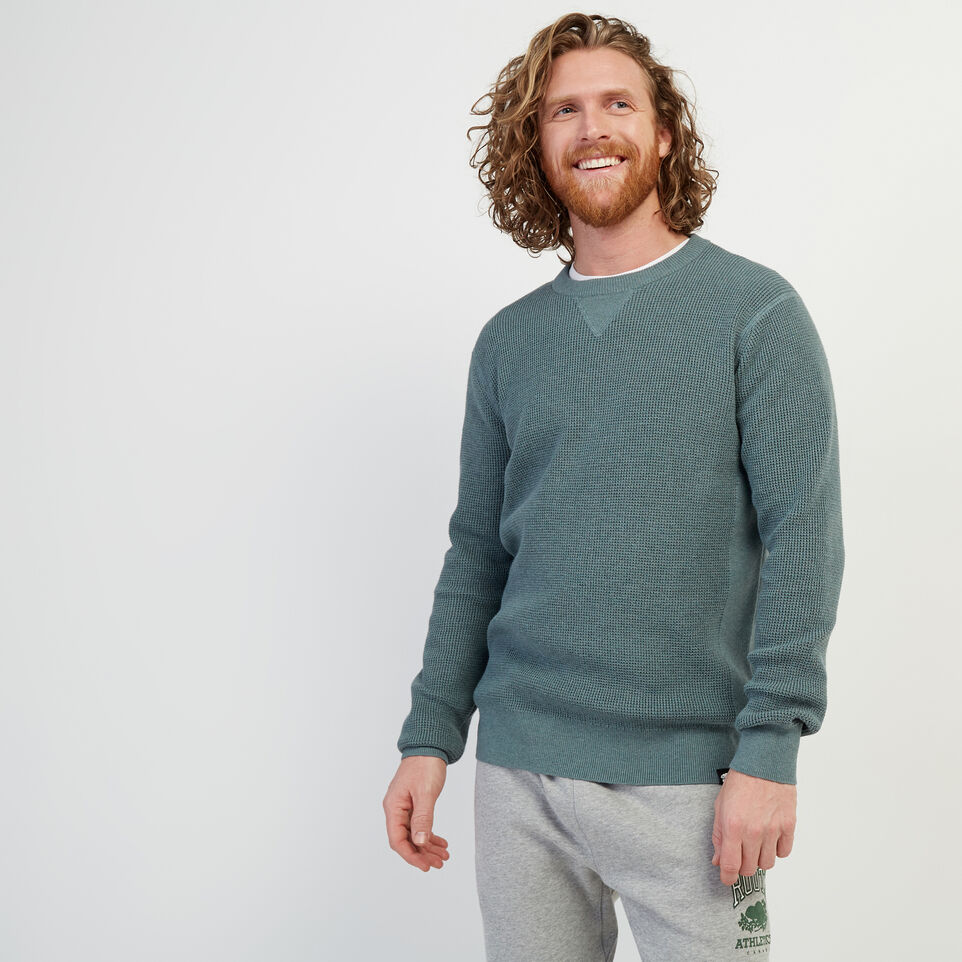 Roots-New For February Journey Collection-Journey Sweater Crew-North Atlantic Mix-A