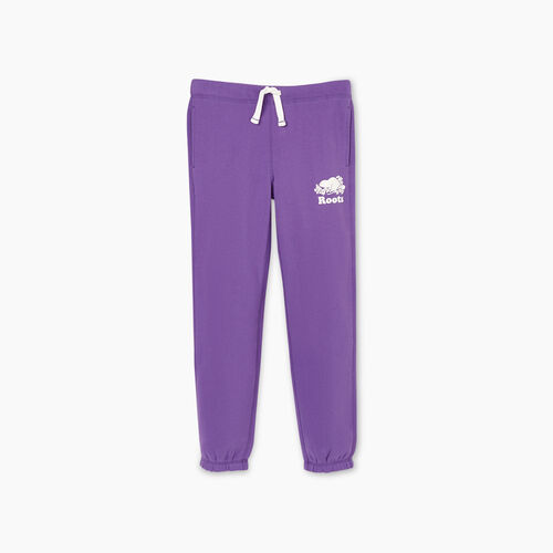Roots-Kids New Arrivals-Girls Original Roots Sweatpant-Deep Lavender-A