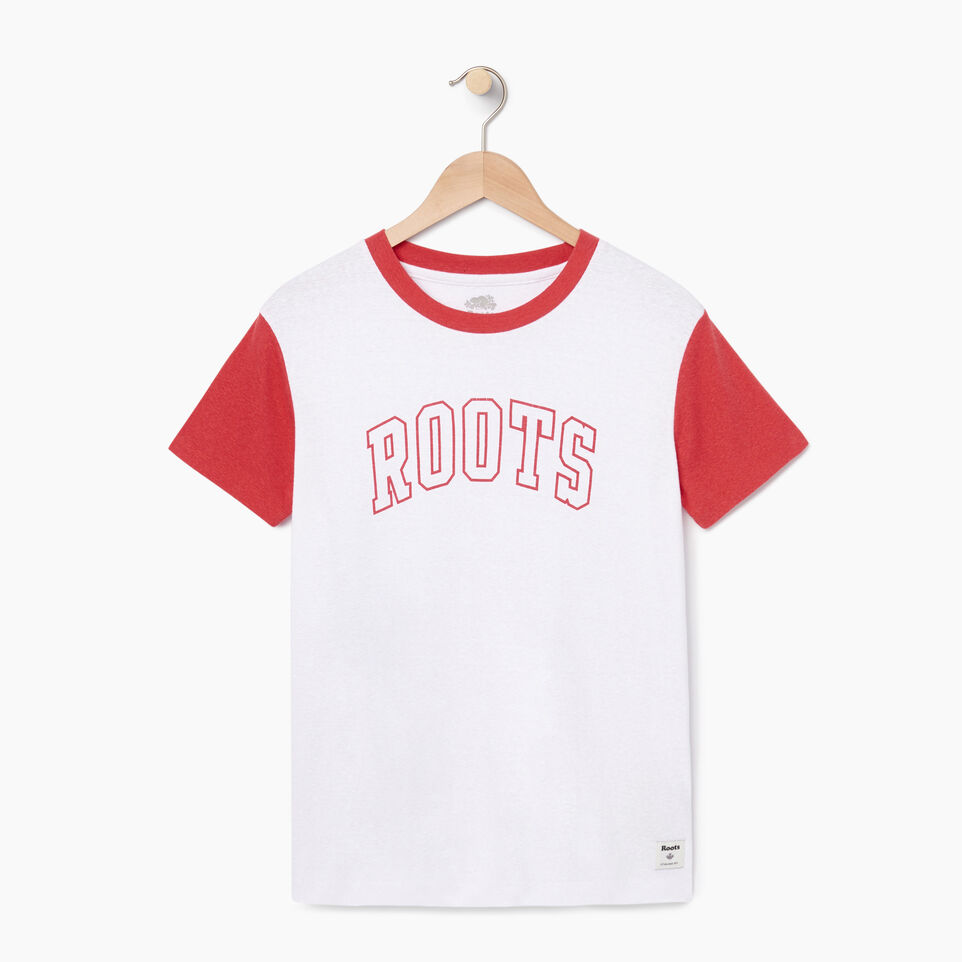 Roots-undefined-Womens Varsity Chic T-shirt-undefined-A