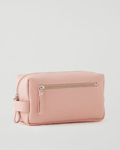 Roots-Leather Tech & Travel-Large Utility Pouch Cervino-Pink Pearl-A