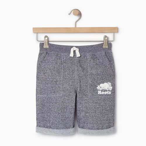 Roots-Clearance Kids-Boys Park Short-Salt & Pepper-A