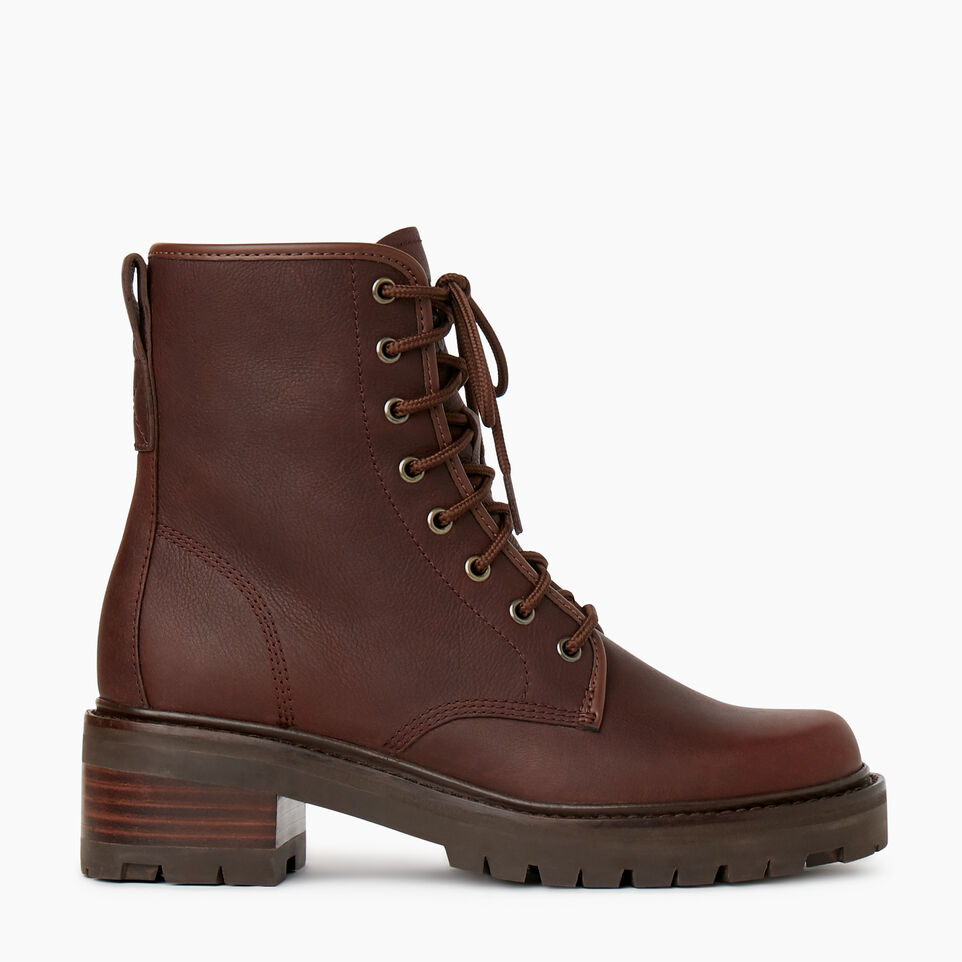 Roots-Women Clothing-Womens Port Dalhousie Boot-Cocoa-A