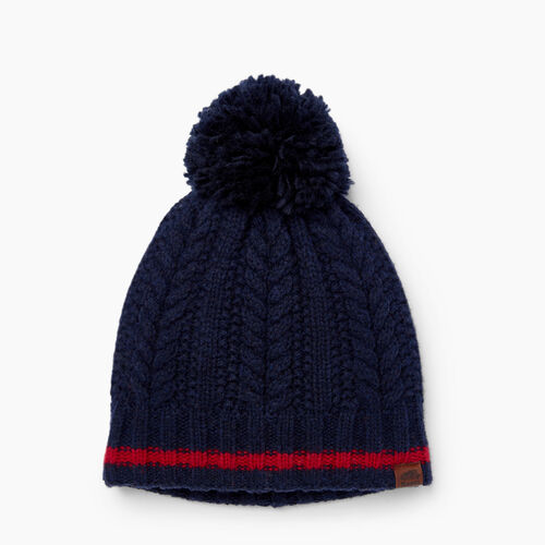 Roots-Clearance Last Chance-Liscomb Pom Pom Toque-Navy Blazer-A