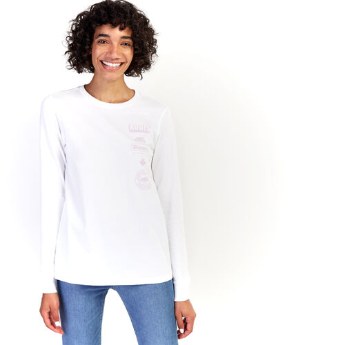 Roots-Women New Arrivals-Womens Stacked Long Sleeve T-Shirt-Crisp White-A