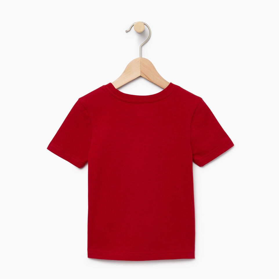 Roots-Kids Our Favourite New Arrivals-Toddler Blazon T-shirt-Sage Red-B