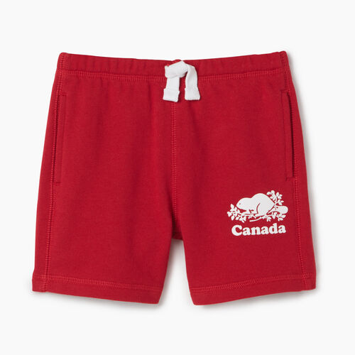 Roots-Kids Canada Collection-Toddler Canada Short-Sage Red-A