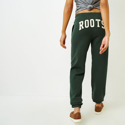 Roots-Women Categories-Original Boyfriend Sweatpant-Park Green-A