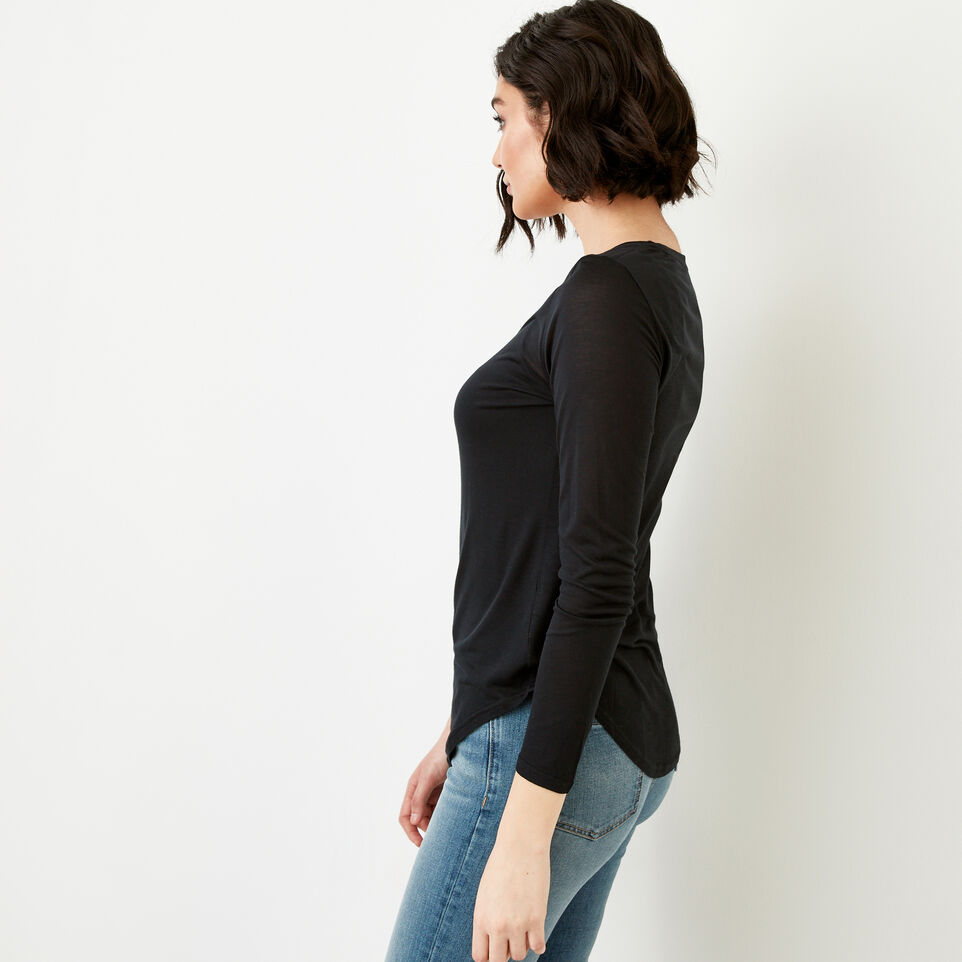 Roots-Women Our Favourite New Arrivals-Sidney Top-Caviar-C