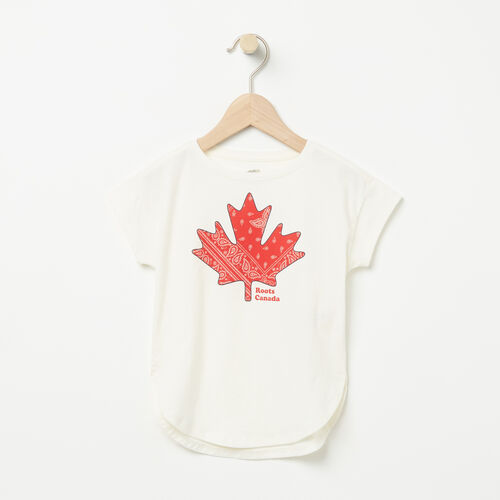 Roots-Kids Tops-Toddler Maple Top-Pristine White-A
