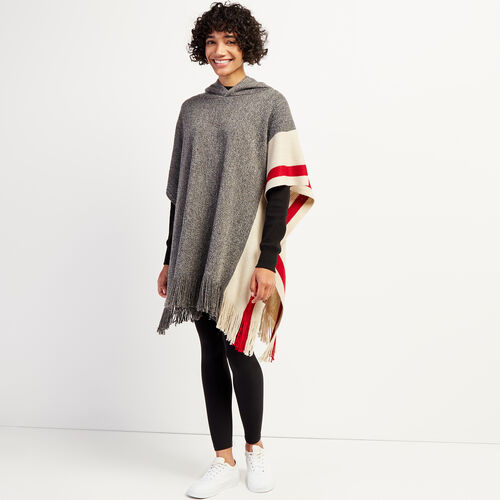 Roots-New For October The Roots Cabin Collection™-Roots Cabin Poncho Hood-Grey Oat Mix-A