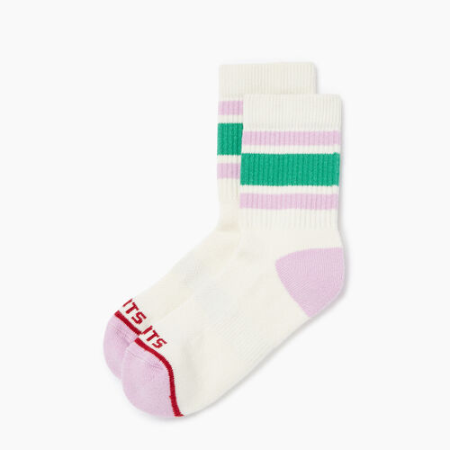 Roots-Women Accessories-Womens Gymnasium Ankle Sock-Pink Mist-A