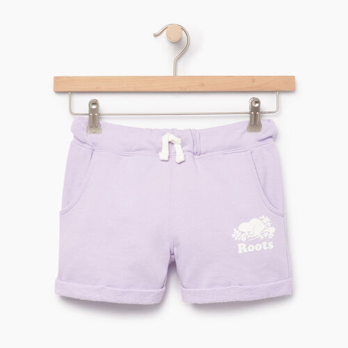 Roots-Clearance Kids-Girls Roots Beach Short-Lavendula-A