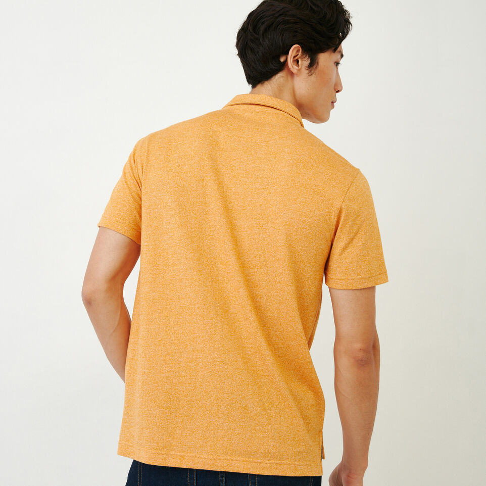 Roots-Men Our Favourite New Arrivals-Jersey Peppered Polo-Squash Yellow Pepper-D