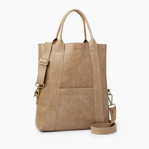 Roots-Leather  Handcrafted By Us Handbags-Annex Tote-Sand-A