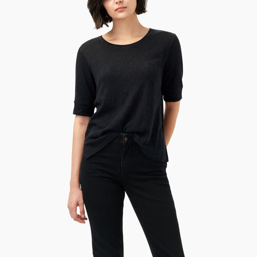 Roots-Black Friday Deals Tops-Ember Pocket Top-Black Mix-A