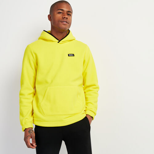 Roots-Men New Arrivals-Polartec® x Roots Journey Kanga Hoody-Chartreuse-A