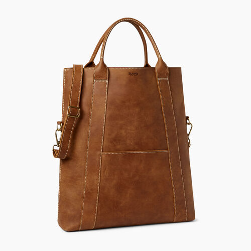 Roots-Leather Totes-Large Annex Tote-Natural-A