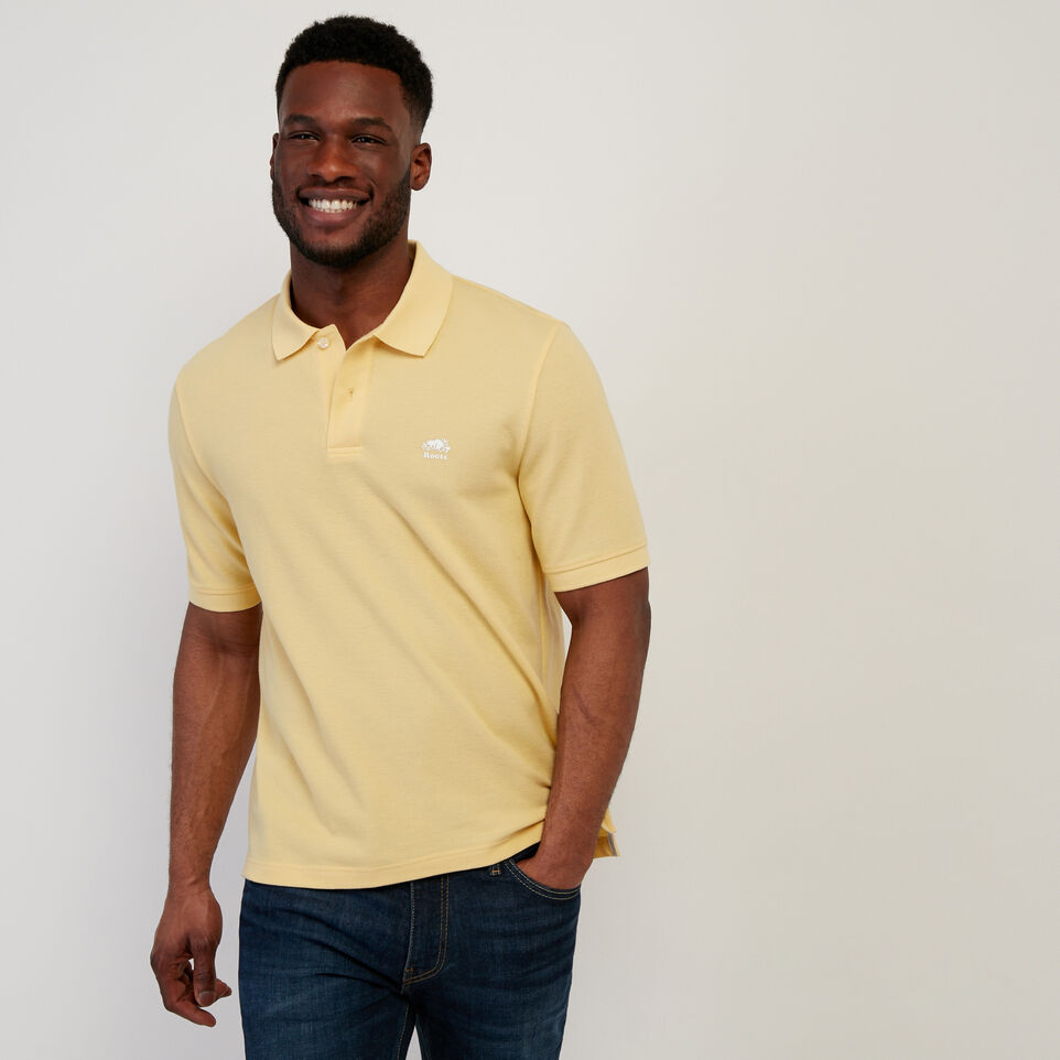 Roots-Men New Arrivals-Heritage Pique Polo-Sundress-A