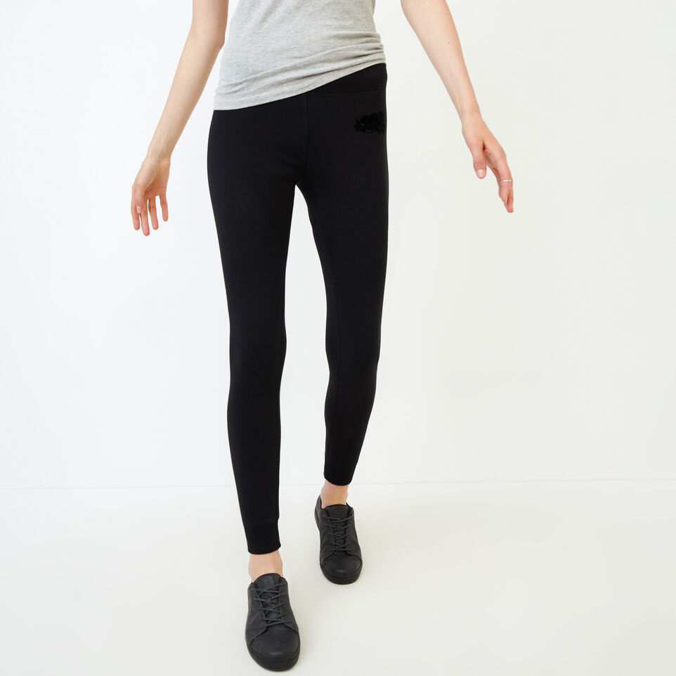 Roots-Women Our Favourite New Arrivals-Cozy Fleece Skinny Sweatpant-Black-A