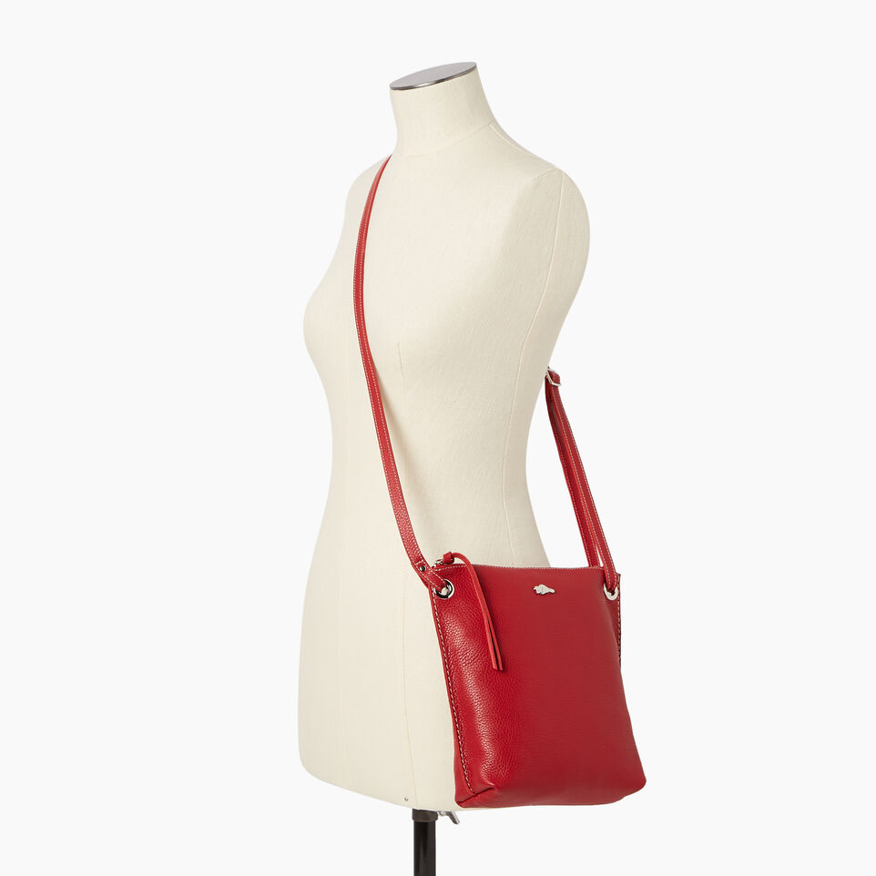 Roots-Leather  Handcrafted By Us Categories-Festival Bag-Red-B