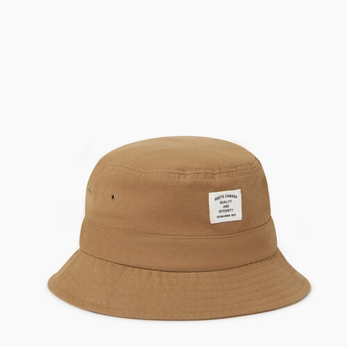 Roots-Men Accessories-Roots Bucket Hat-Tan-A