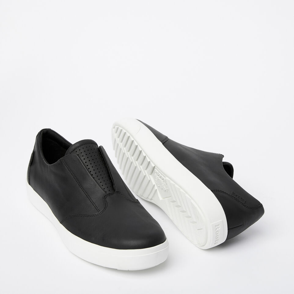 Roots-Clearance Footwear-Mens Valley Slip On-Black-E
