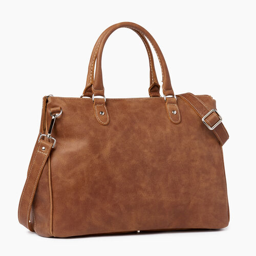 Roots-Leather  Handcrafted By Us Collections-Grace Bag-Natural-A