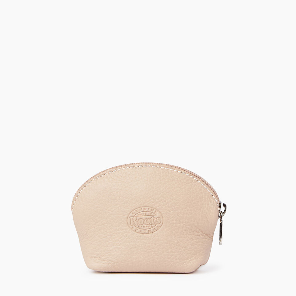 Roots-Leather Our Favourite New Arrivals-Small Euro Pouch-Pink Mist-B